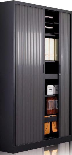 Tambour Cupboard 1980mm H X 800mm W 4 Shelves Cat 1
