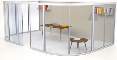 Quadro Screen System   Create a Temporary Demountable Office or ...