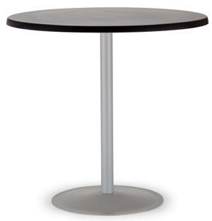 Lena Outdoor Cafe Table 800 dia Topalit Top, Black Base 736h