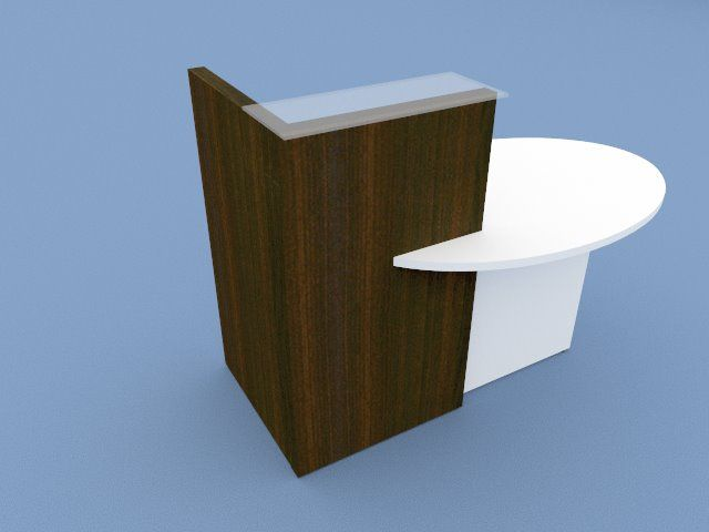 OVO Compact Reception Consultation Desk, Left Hand Top