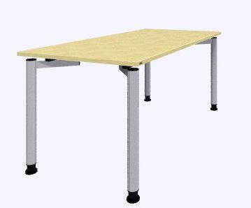 Rondana rectangular desk 1600x800 melamine top