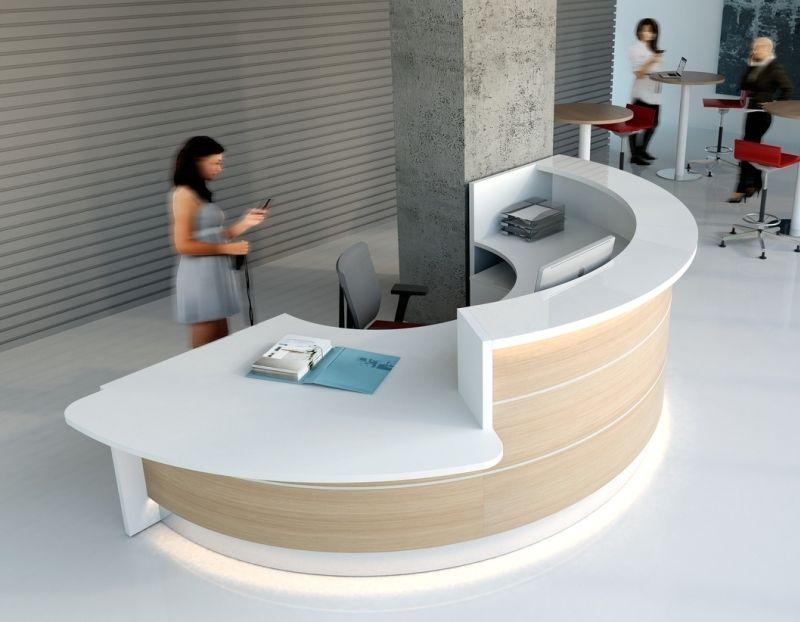 Modern High Gloss Office Reception Desk Valde Reception