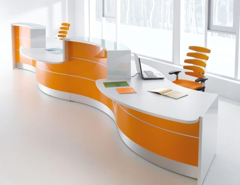 Modern High Gloss Office Reception Desk | Valde Reception Counter