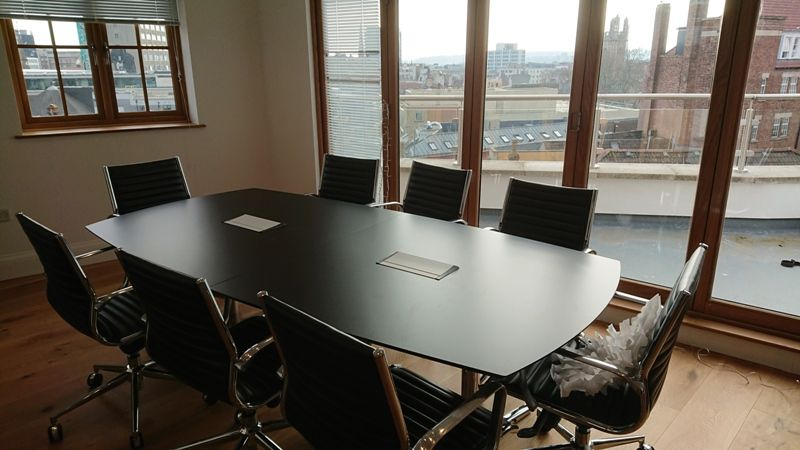 New Black Conference Meeting Table Black Switch Boardroom Meeting - Black conference room table
