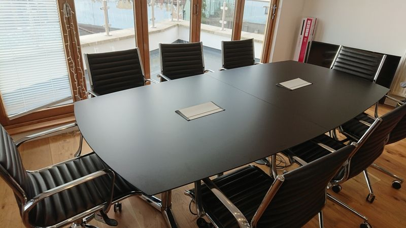 Black Conference Meeting Table Black Switch Boardroom
