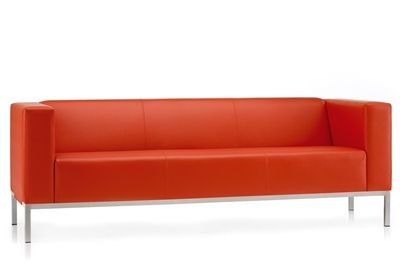 Box Three Seat Reception Sofa, Grp 3