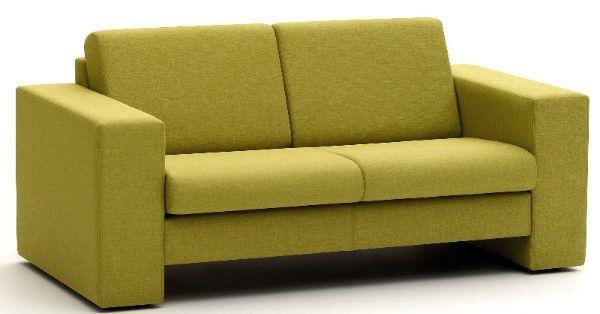 Crisp Two Seat Sofa in Std Black leather