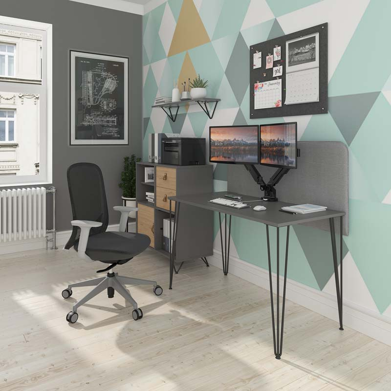 Tikal Home Office Hairpin Leg Desk